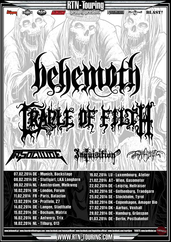Behemoth Cradle of Filth Tour