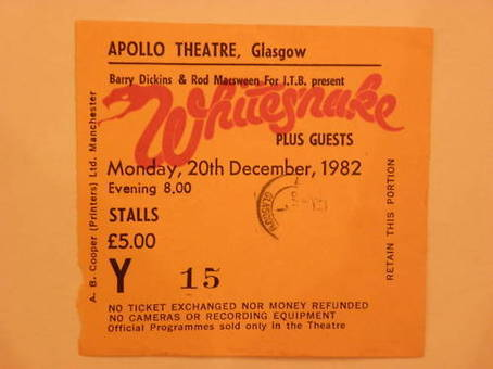 Whitesnake Ticket