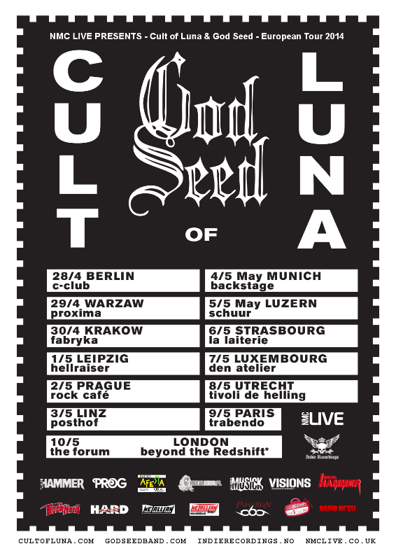 Cult of Luna and God Seed Euro Tour