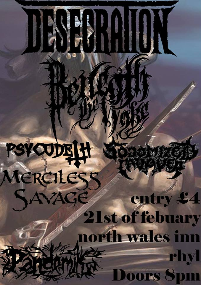 Desecration Flyer