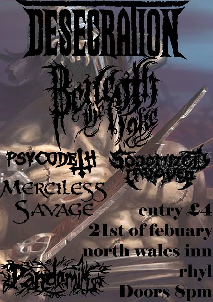 Desecration Flyer