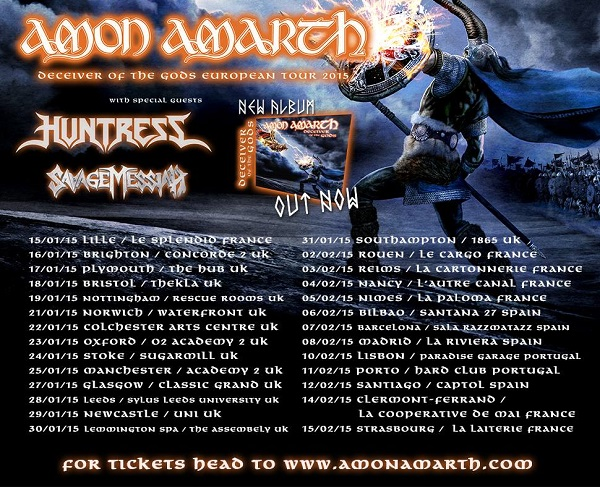 Amon Amarth Euro Tour 2015