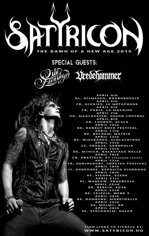 Satyricon 2015 Tour Flyer